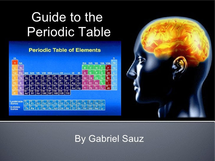 Guide to the  Periodic Table By Gabriel Sauz