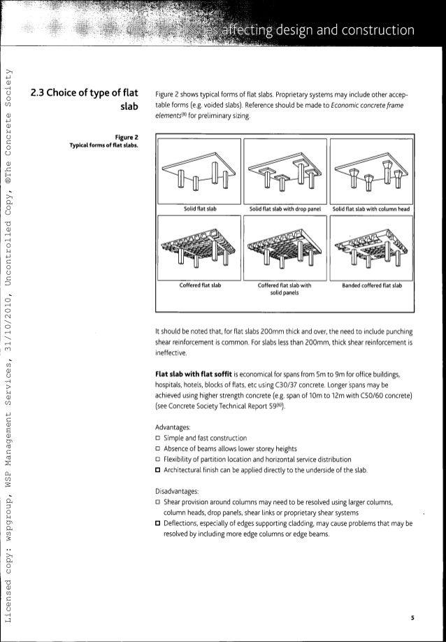 guide to the design and construction of reinforced concrete flat slab rh slideshare net Structural Slab Design Concrete Drop Panel
