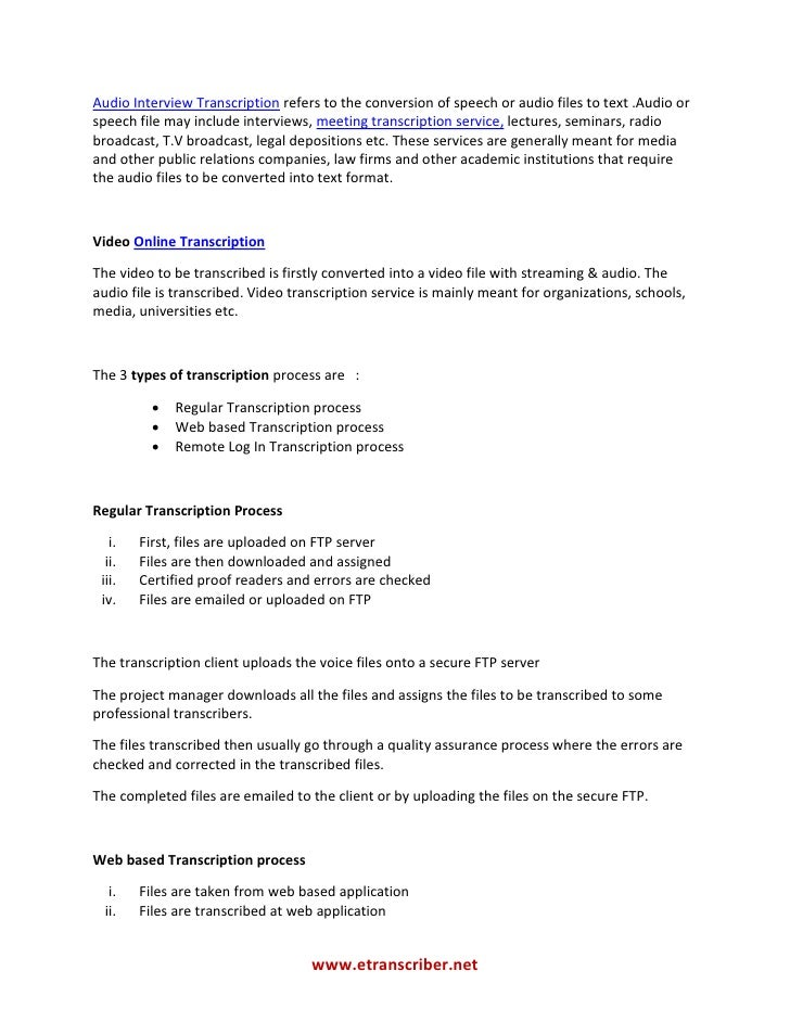 transcribing interviews for thesis 25 responses to do i have to transcribe the interviews i do if you do decide to outsource your interview transcription to a professional thesis knowhow.