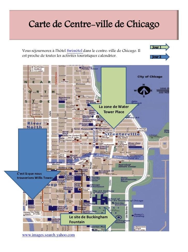 Carte de Centre-ville de Chicago                                                                              Jour 1   Vou...