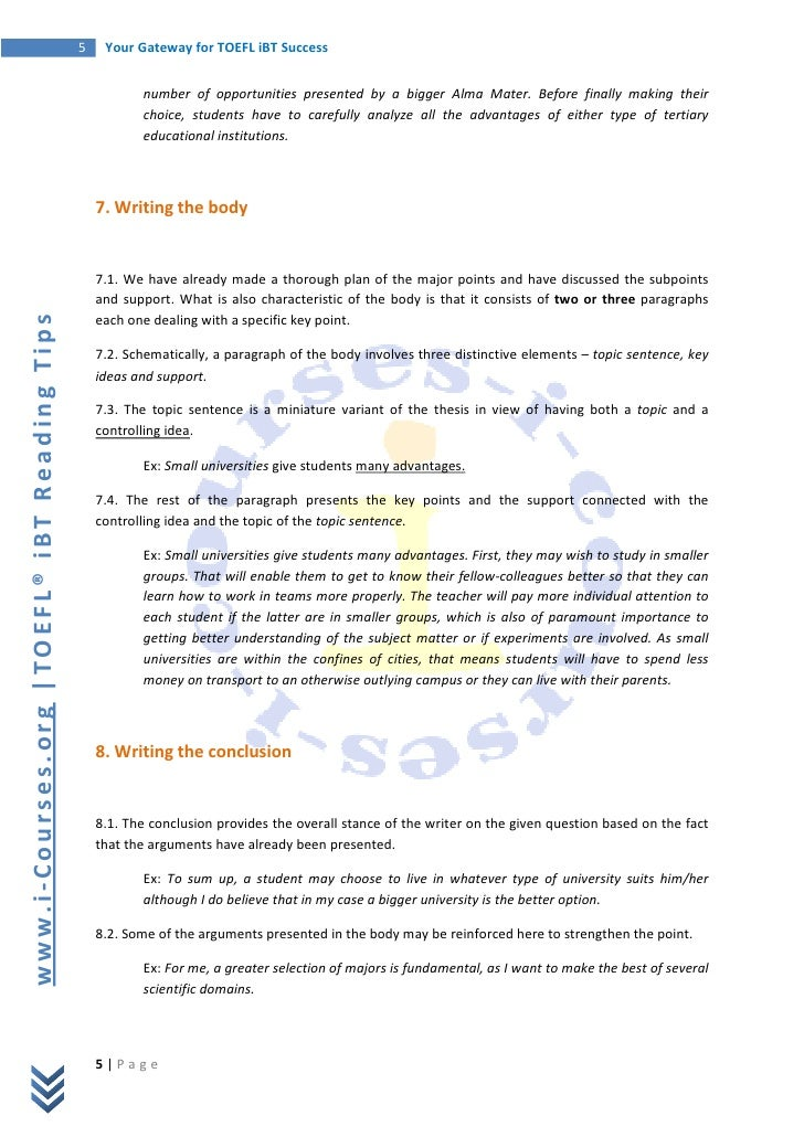 Mini q essay outline guide for Toefl writing template independent