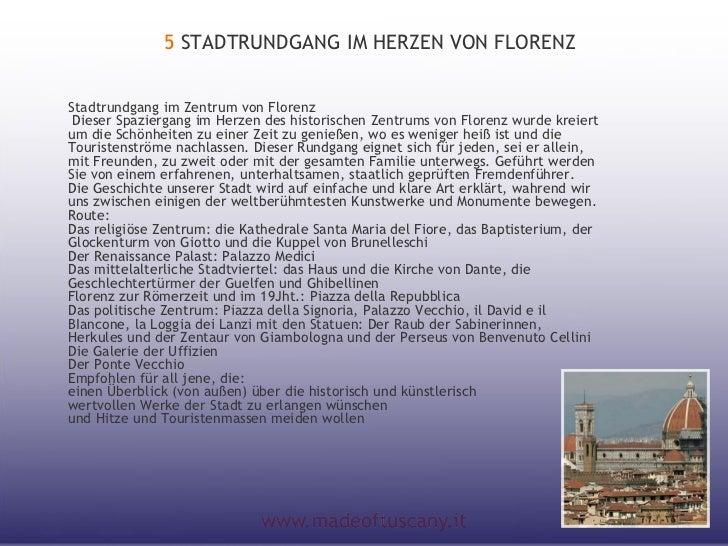 5 STADTRUNDGANG IM HERZEN VON FLORENZStadtrundgang im Zentrum von FlorenzDieser Spaziergang im Herzen des historischen Ze...