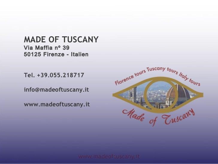 Tägliche Gruppen-führungen  in Florenz 2012 Slide 3