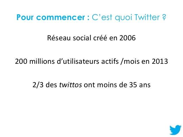 Initiation à Twitter Slide 2