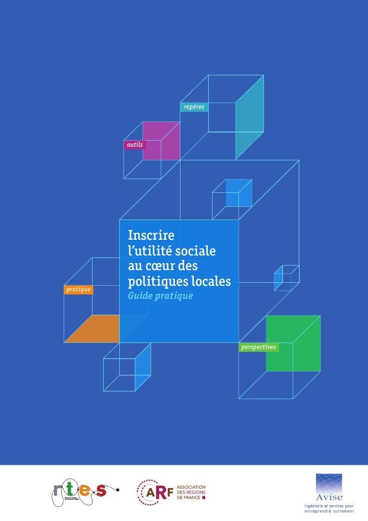 repères           outils           Inscrire           l'utilité sociale           au cœur despratique           politiques...