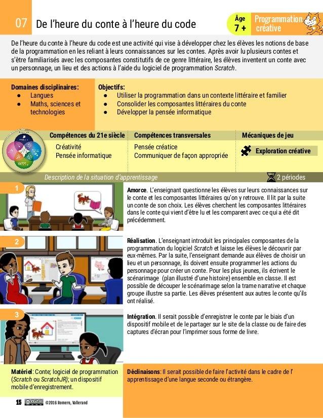 De l'heure du conte à l'heure du code est une activité qui vise à développer chez les élèves les notions de base de la pro...
