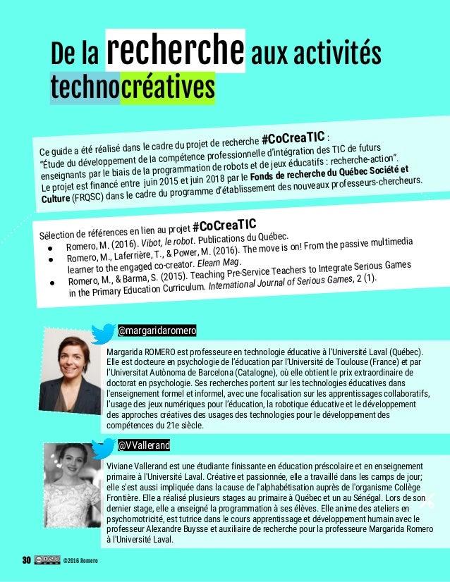 De la recherche aux activités technocréatives Viviane Vallerand est une étudiante finissante en éducation préscolaire et e...