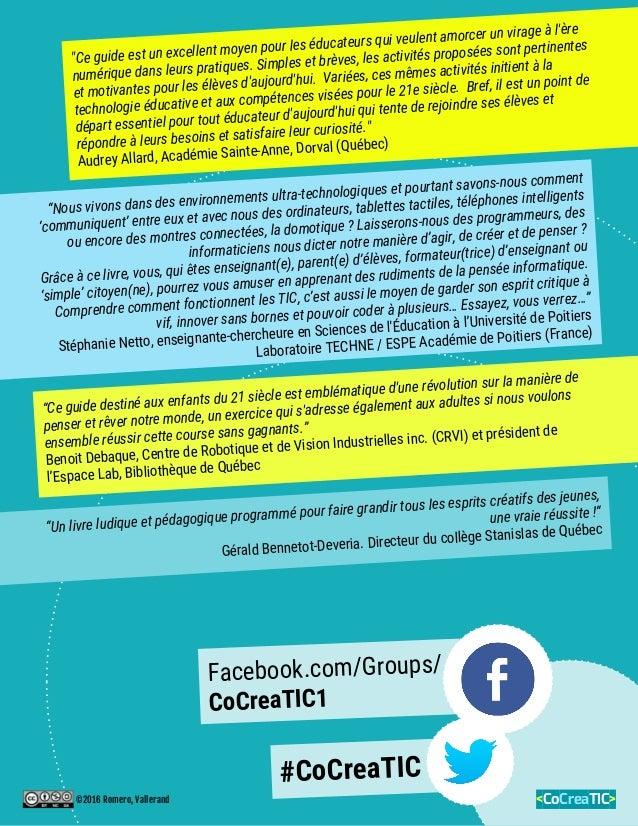 """""""Ce guide est un excellent moyen pour les éducateurs qui veulent amorcer un virage à l'ère numérique dans leurs pratiques...."""
