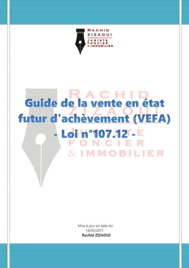 Champ d'application Définition VEFA