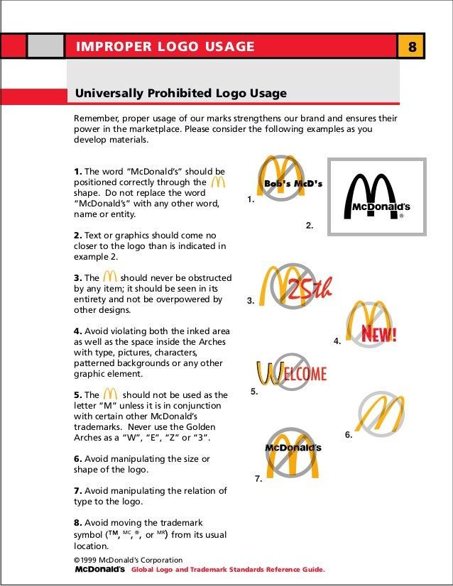 IMPROPER LOGO USAGE                                                                     8Universally Prohibited Logo Usage...