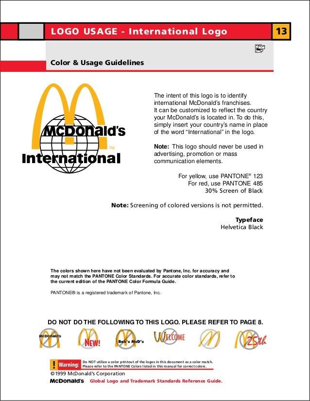 LOGO USAGE - International Logo                                                                                   13Color ...