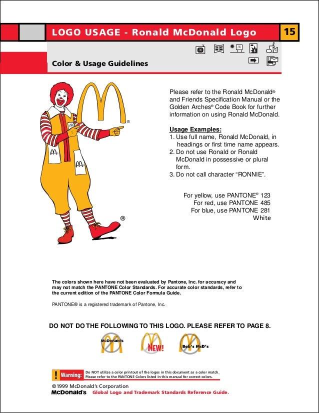 LOGO USAGE - Ronald McDonald LogoLOGO USAGE - Ronald McDonald Logo                                                        ...