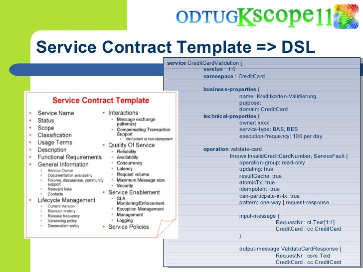Best practices for designing and building the services of an soa prototype based on eclipse xtext available 18 service contract template pronofoot35fo Gallery