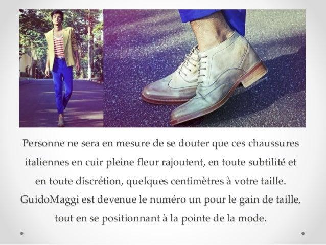 Personne ne sera en mesure de se douter que ces chaussures italiennes en cuir pleine fleur rajoutent, en toute subtilité e...