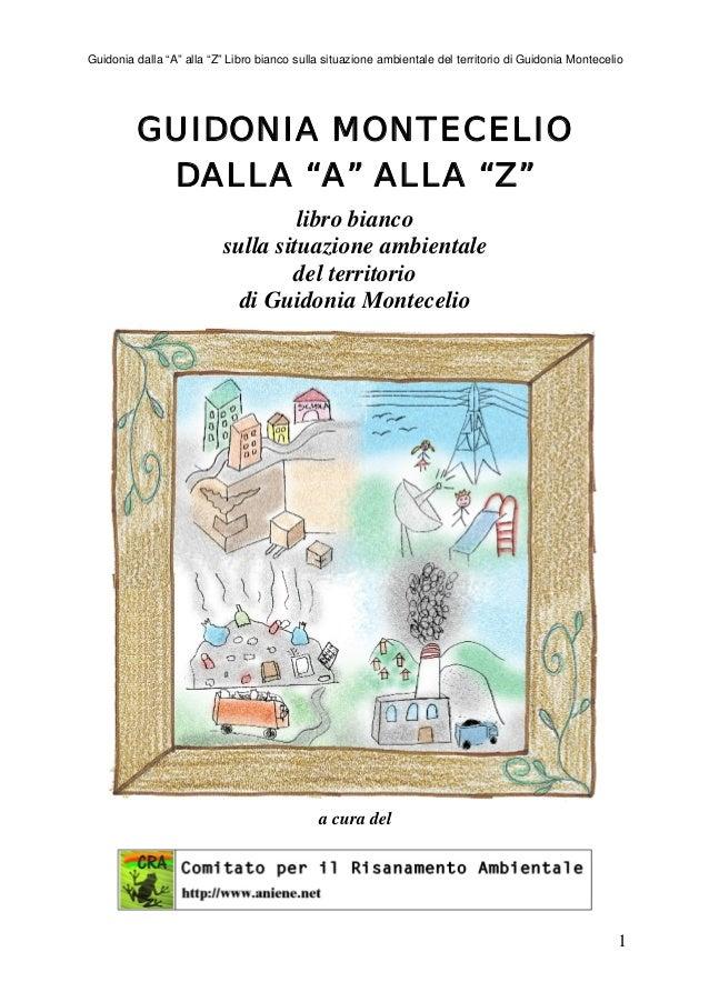 """Guidonia dalla """"A"""" alla """"Z"""" Libro bianco sulla situazione ambientale del territorio di Guidonia Montecelio         GUIDONI..."""
