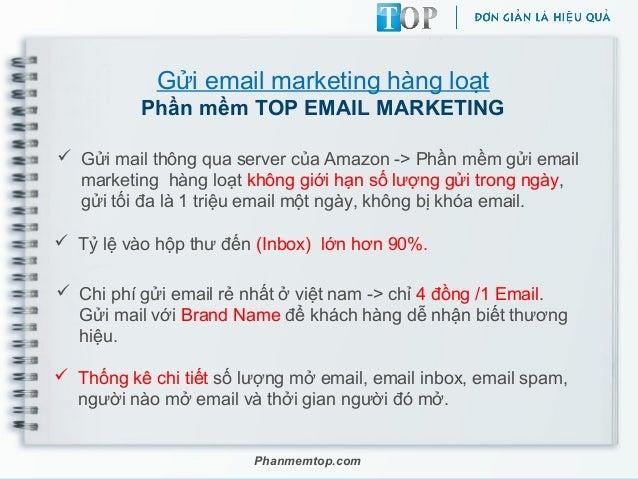 Gửi email marketing hàng loạt Phần mềm TOP EMAIL MARKETING  Gửi mail thông qua server của Amazon -> Phần mềm gửi email ma...