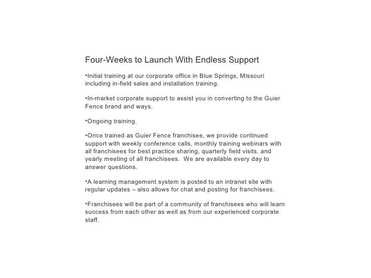 Guier Fence Franchise Opportunity If You Already Own A