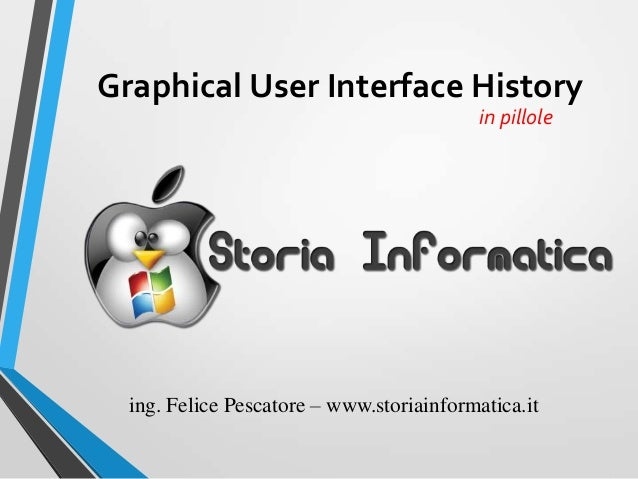 Graphical User Interface Historying. Felice Pescatore – www.storiainformatica.itin pillole