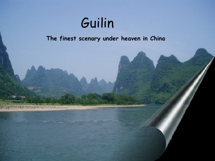 Guilin  The finest scenary under heaven in China