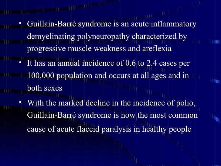 guillain barre syndrome case study quizlet