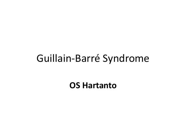 guillain barré syndrome