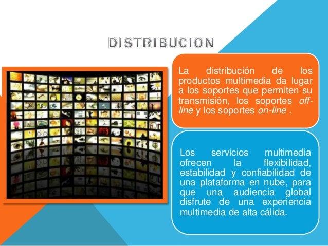 La distribución de los productos multimedia da lugar a los soportes que permiten su transmisión, los soportes off- line y ...