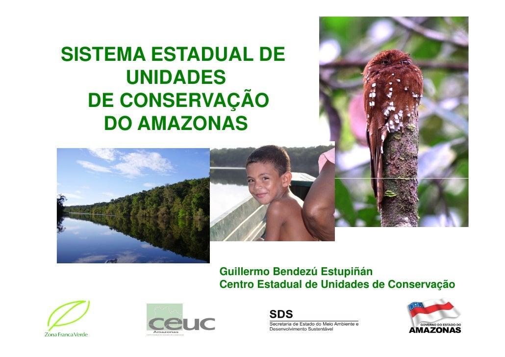 SISTEMA ESTADUAL DE       UNIDADES    DE CONSERVAÇÃO     DO AMAZONAS                  Guillermo Bendezú Estupiñán         ...