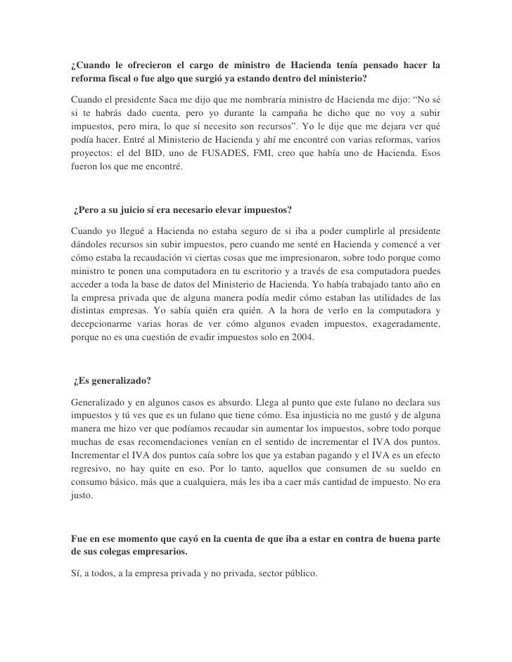 Entrevista Informativa publicada en Revista Slide 2