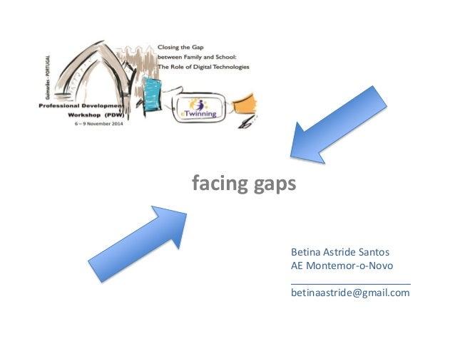 facing gaps  Betina Astride Santos  AE Montemor-o-Novo  _____________________  betinaastride@gmail.com