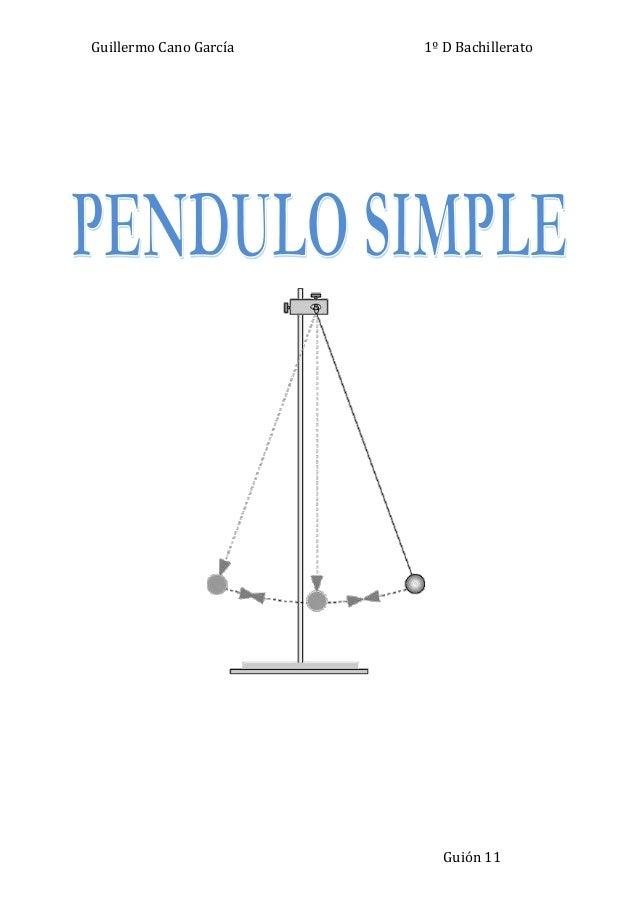 algo del pendulo simple para saber
