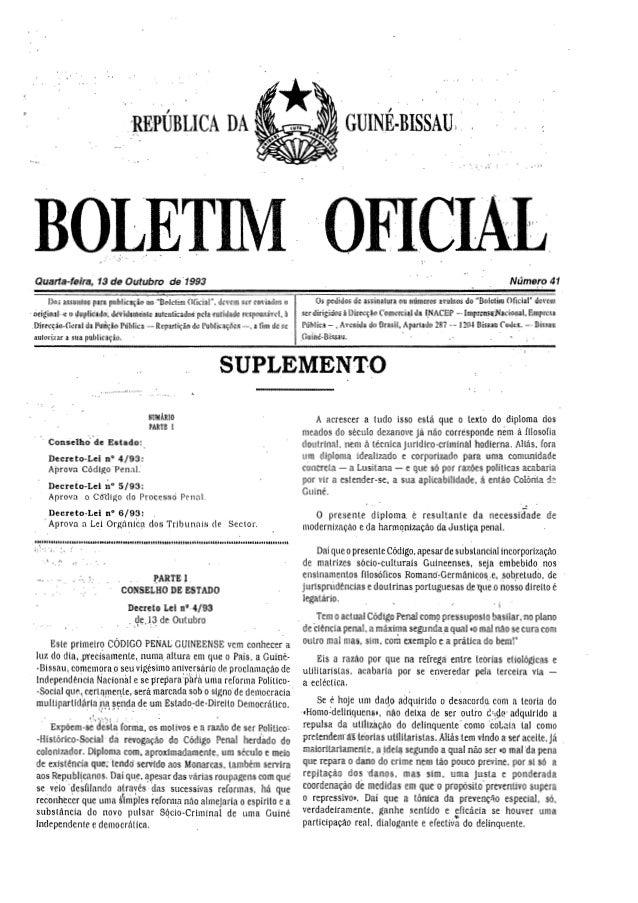 Código Penal e Processual Penal da Guiné-Bissau