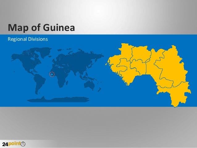 Map of Guinea Regional Divisions