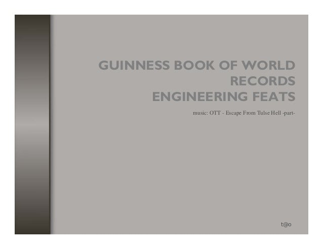 GUINNESS BOOK OF WORLD               RECORDS      ENGINEERING FEATS           music: OTT - Escape From Tulse Hell -part-  ...