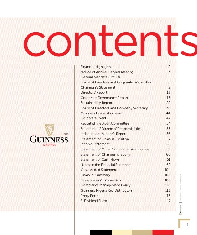 marketing audit guinness nigeria Guinness nigeria plc is a major market for diageo: guinness nigeria operates in  the unique and fast growing alcohol industry of over 15mhl.