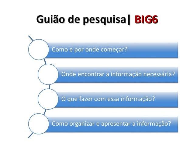Guião de Pesquisa – big 6   be cre Slide 2