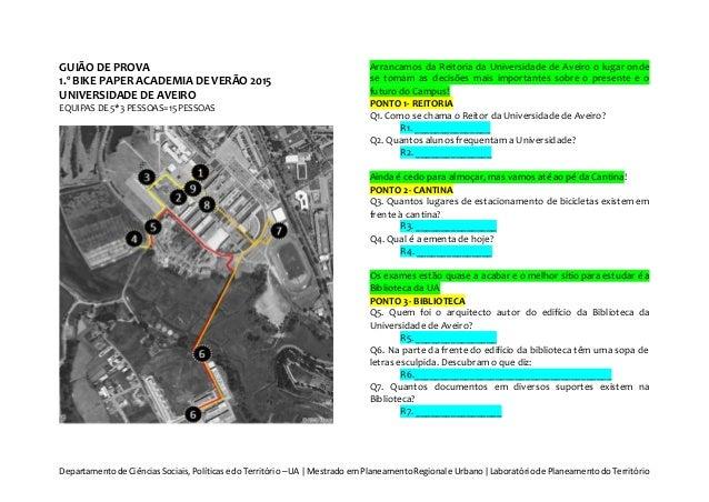Departamentode CiênciasSociais,Políticase doTerritório –UA | Mestrado emPlaneamentoRegional e Urbano|Laboratóriode Planeam...
