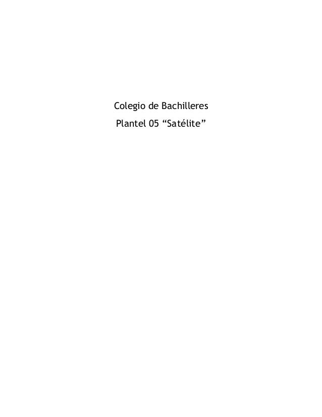 "Colegio de Bachilleres Plantel 05 ""Satélite"""