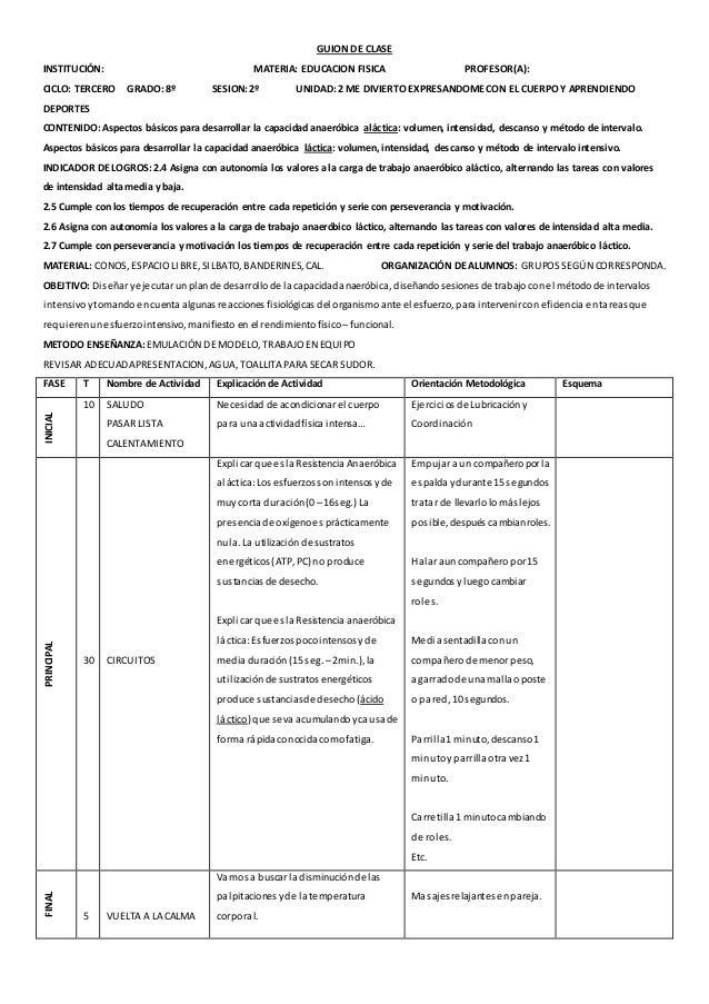 GUION DE CLASES  Centro Escolar: Grado: 9º Unidad: 2  Contenidos:  Conceptuales: Practica del tiro al marco  Procedimental...