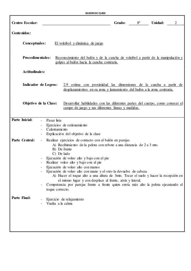 GUION DE CLASES  Centro Escolar: Grado: 9º Unidad: 2  Contenidos:  Conceptuales: Defensa de zona  Procedimentales: Posició...