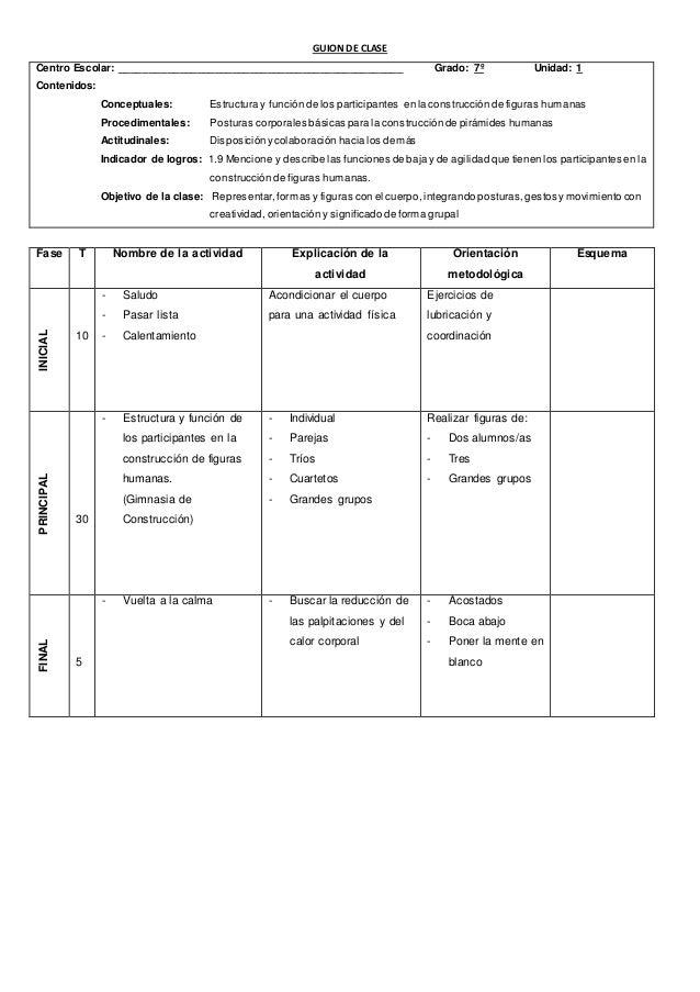 GUIÓN DE CLASE  Centro Escolar: Grado: Séptimo Unidad: 2  Contenidos:  Conceptuales: Conducción y control del balón.  Proc...