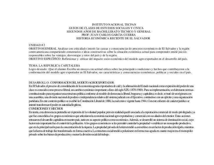 INSTITUTO NACIONAL TECPAN                                     GUION DE CLASES DE ESTUDIOS SOCIALES Y CIVICA               ...