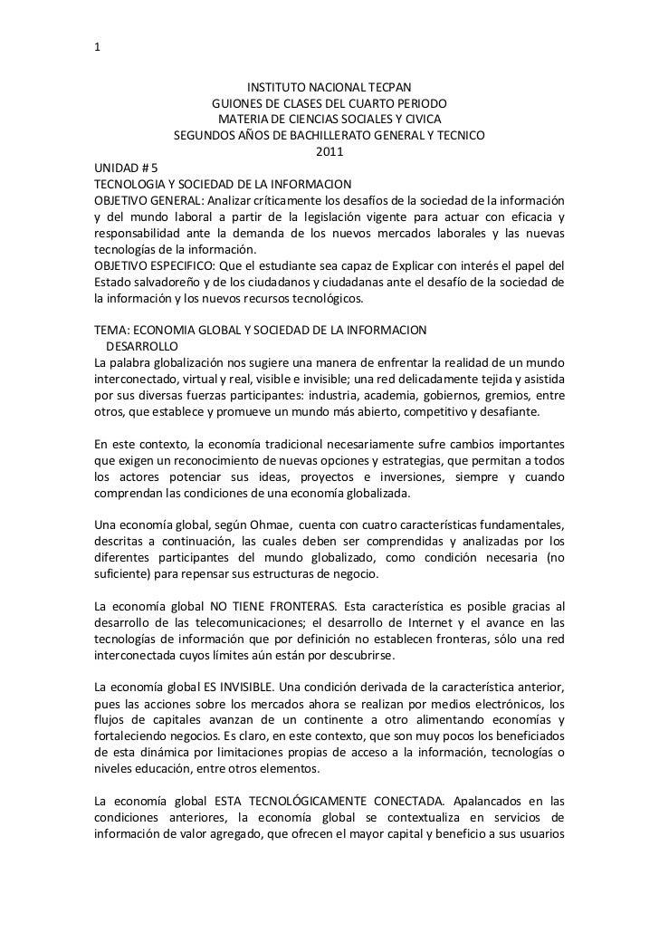 1                         INSTITUTO NACIONAL TECPAN                    GUIONES DE CLASES DEL CUARTO PERIODO               ...