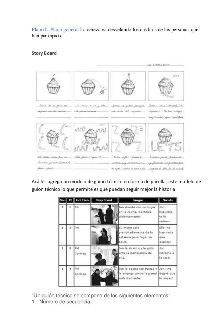 Guion literario y tecnico para stop motion Slide 2