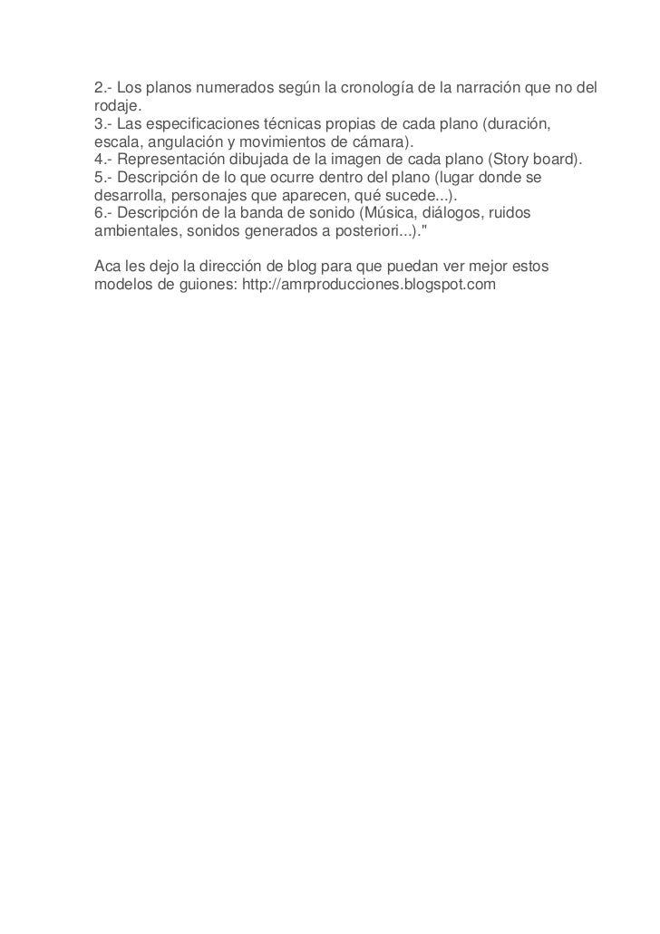 Guion literario y tecnico para stop motion Slide 3