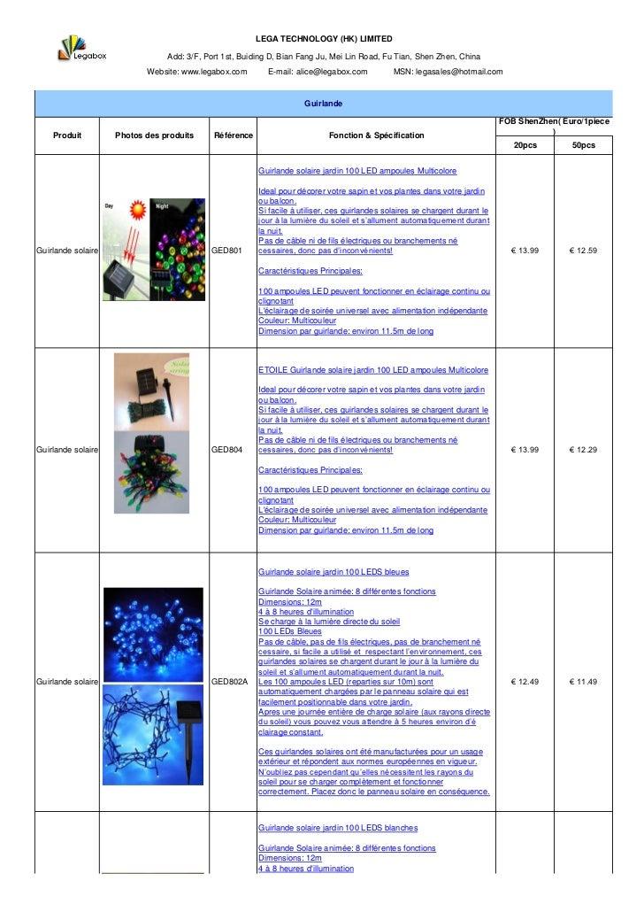 LEGA TECHNOLOGY (HK) LIMITED                                Add: 3/F, Port 1st, Buiding D, Bian Fang Ju, Mei Lin Road, Fu ...