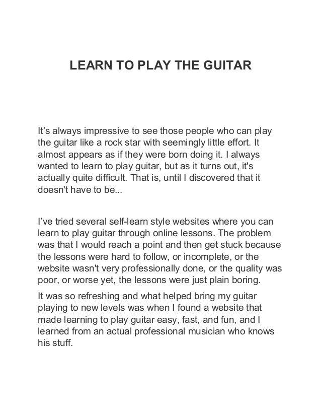 learn how to play like slash
