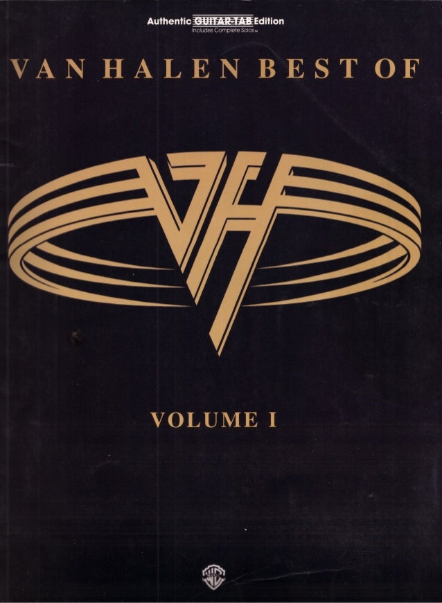 Guitar   tab book - van halen - the best of vol.1