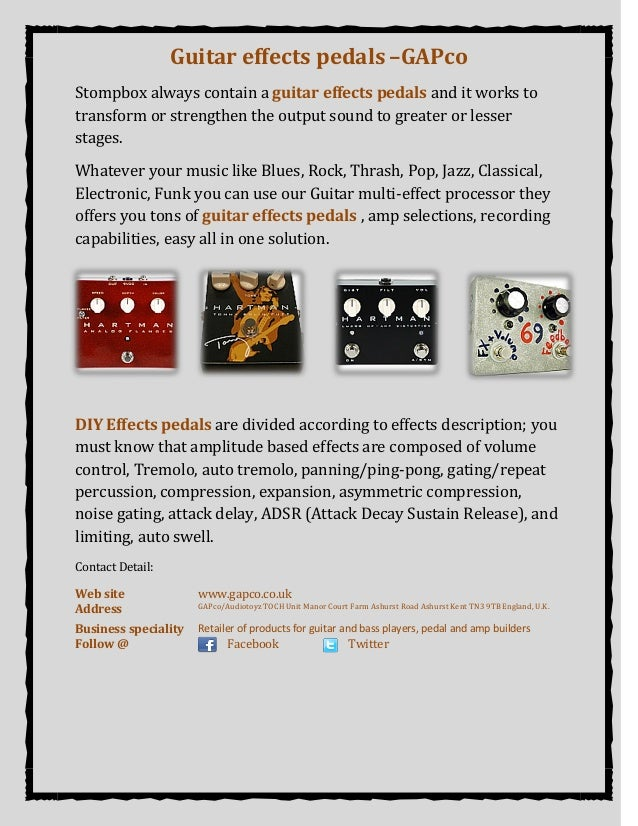 Guitar effects pedals –GAPco