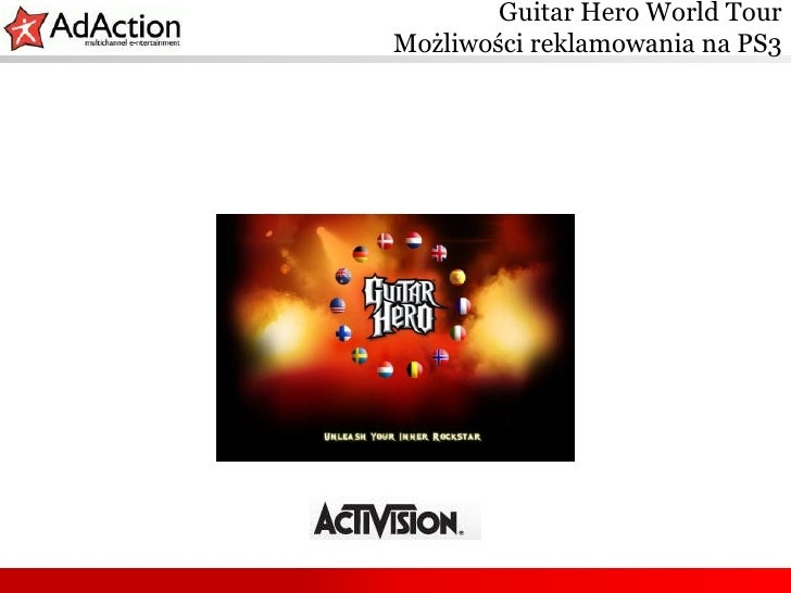 Guitar Hero World TourMożliwości reklamowania na PS3<br />