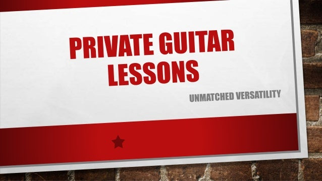 BEGINNER'S GUITAR LESSONS The lessons in this series were created specifically for students that are brand new to the guit...